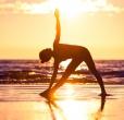 joga na pláži