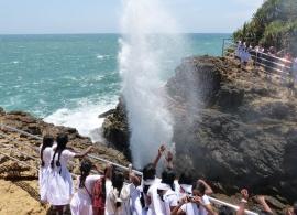 Gejzír na pobřeží, Srí Lanka