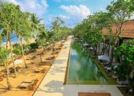Areál plážového hotelu Srí Lanka