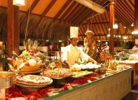 Adaaran Club Rannalhi Maledivy - restaurace