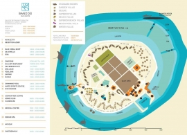 Bandos island resort mapa