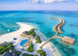 Cocoon Maledives - letecký pohled na pláž