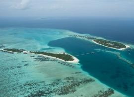 Conrad Maldives Rangali - letecký pohled