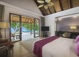 Dusit Thani Maledivy - plážová vila deluxe s bazénem