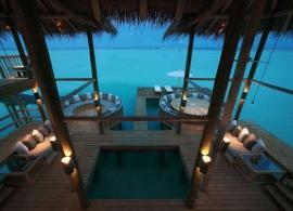 Gili Lankafushi - Crusoe rezidence - společenská místnost