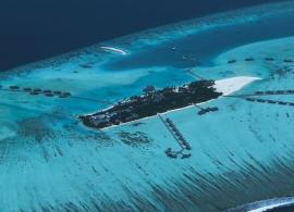 Gili Lankafushi - letecký pohled