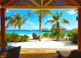 Kudafushi Maledivy - plážová vila