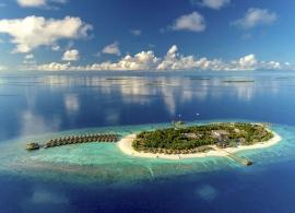 Kudafushi island resort Maledivy - letecký pohled