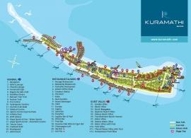 Kuramathi island resort mapa
