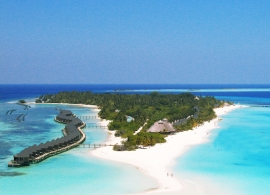 Kuredu island resort - letecký pohled