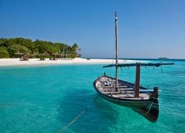 Maledivy loď dhóni