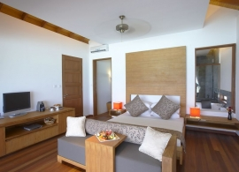 Medhufushi Island resort - vodní vila - interiér