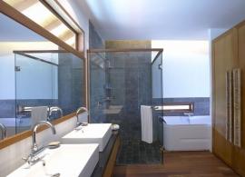 Medhufushi Island resort - koupelna ve vodní vile