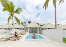 Olhuveli Beach resort - plážová vila grand s bazénem