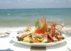 Pandanus beach resort Srí Lanka - mořské plody