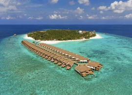 Reethi Faru resort - letecký pohled