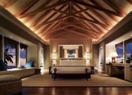 Shangri La´s Villingili Maledivy - interiér vily s bazénem a vodní vily
