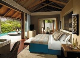 Shangri La´s Villingili Maledivy - plážová vila