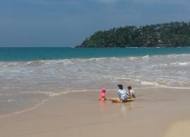pláž Mirissa - Srí Lanka s dětmi
