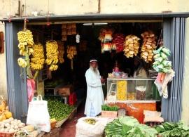 obchod v Haputale, Srí Lanka