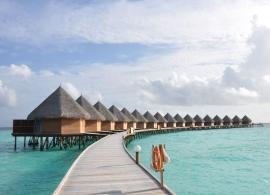 Thulhagiri Island resort - vodní bungalovy