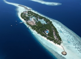 Vilamendhoo island resort - letecký pohled