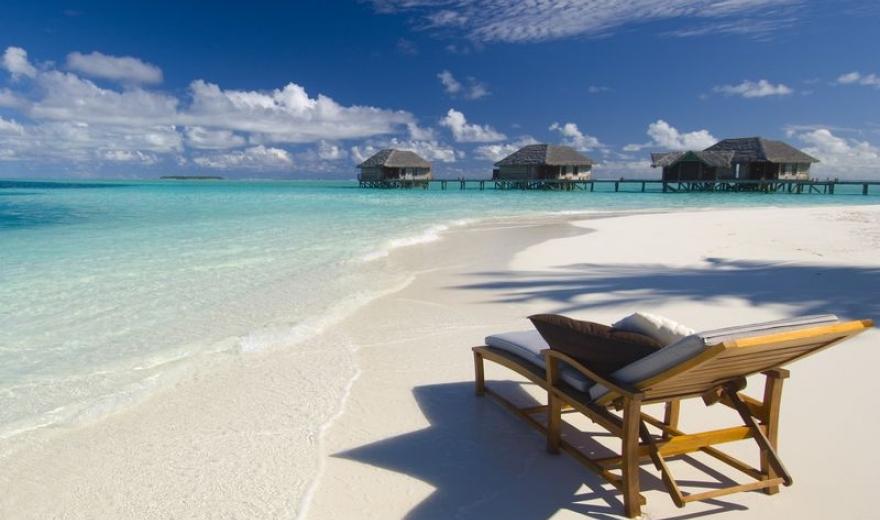 Pláž Maledivy