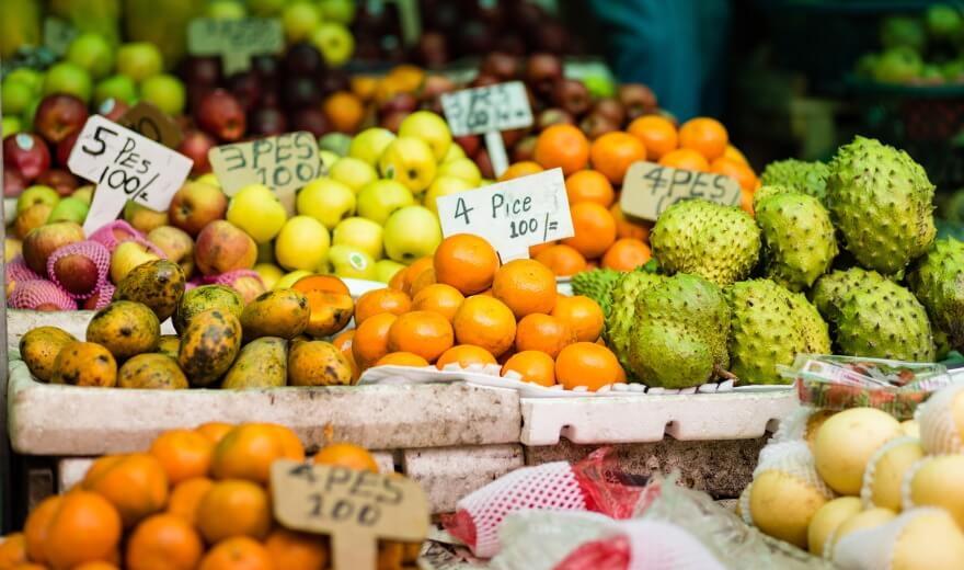 Ovoce a zelenina na Maledivách