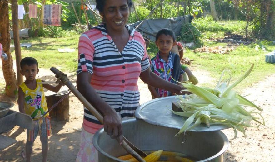 Lidé na Srí Lance