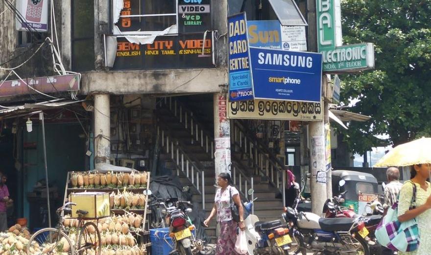 Telefonování na Srí Lance